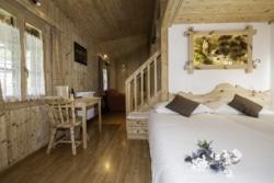 Chambres familiales au chalet Arolle
